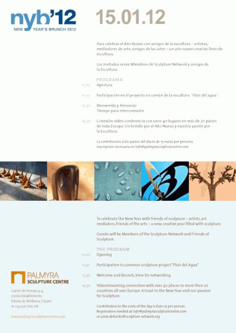 Invitación Sculpture Network NYB & Palmyra Sculpture Centre 15 | 01 | 2012 Palma de Mallorca